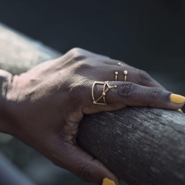 Bague argent or lyon constellation sagittaire bijoux créateur lyon