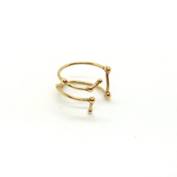 Bague argent or lyon constellation gémeaux bijoux créateur lyon