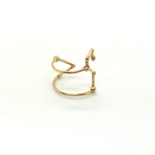 Bague argent or lyon constellation lion bijoux créateur lyon