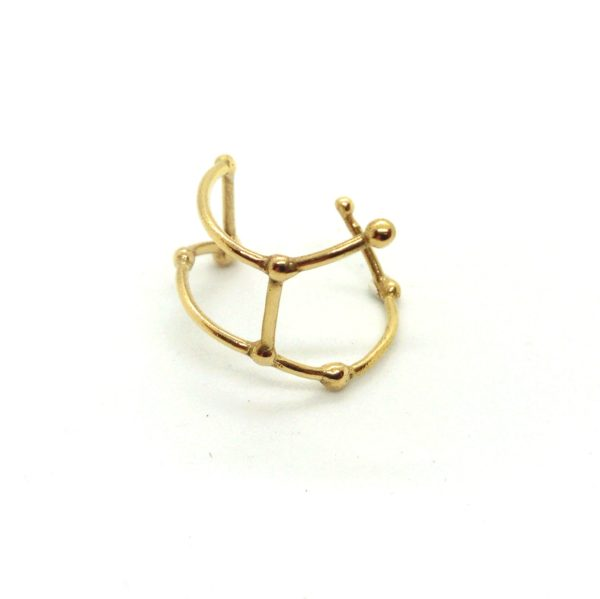 Bague argent or lyon constellation vierge bijoux créateur lyon