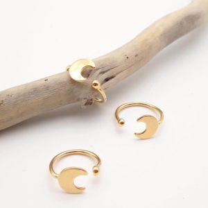 Bague argent de milune croissant bijoux créateur lyon