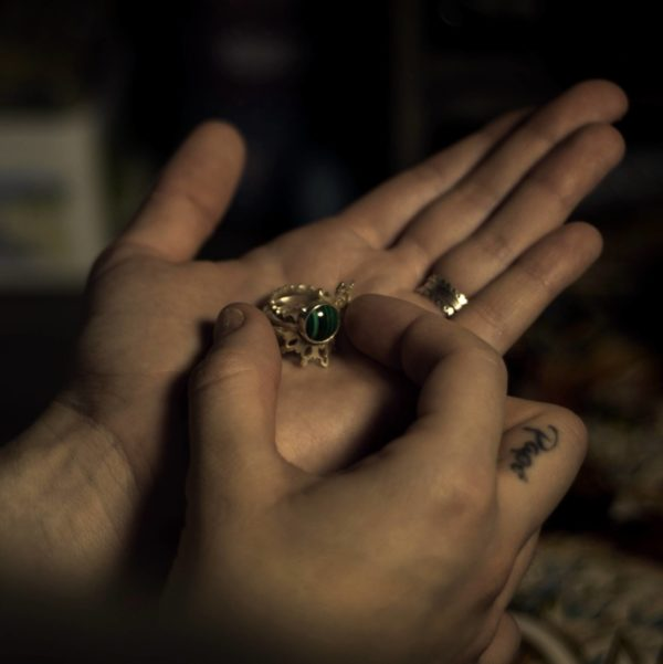 Bague mandala bijoux lyon argent pierre précieuse sur mesure