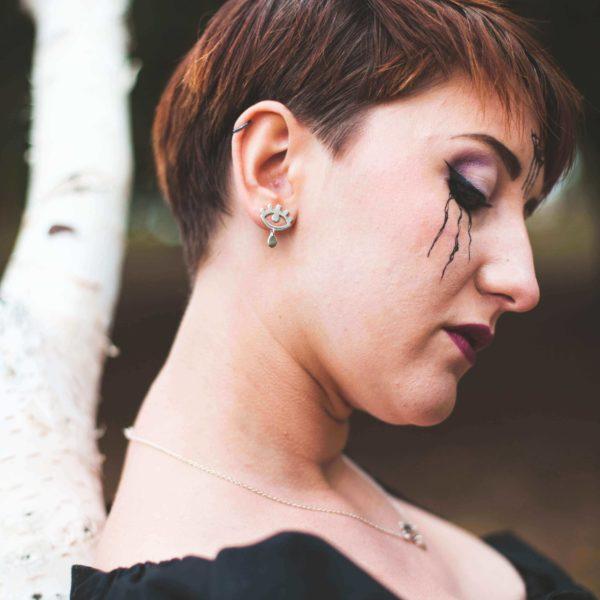 Boucle d'oreilles bijoux argent lyon bijouterie
