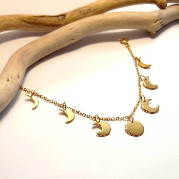 Bracelet bijoux lune bijouterie lyon OR