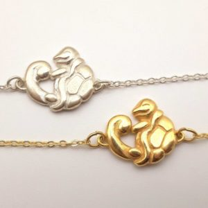 bracelet argent et or petit monstre eau bijouterie lyon