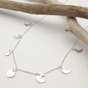 Collier bijoux lune bijouterie lyon argent