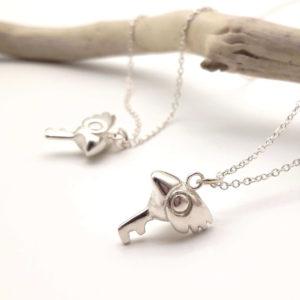 Collier sakura sceptre or argent bijouterie lyon bijoux créateur